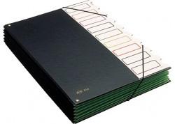 Pardo carpeta clasificador fuelle en PVC