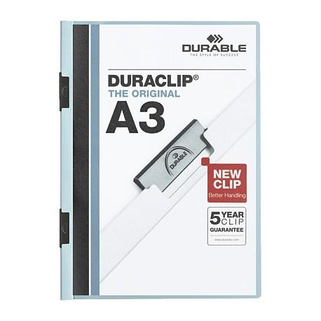 Durable caja 10 dossiers A3 con clip Duraclip