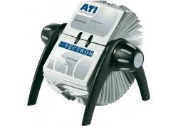 Durable tarjetero rotativo visifix Flip negro