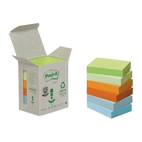 Post-it Linea Verde torre notas pastel