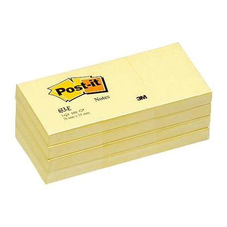 Post-it notas adhesivas 12 blocs color amarillo