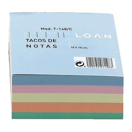 Loan taco de notas colores surtidos
