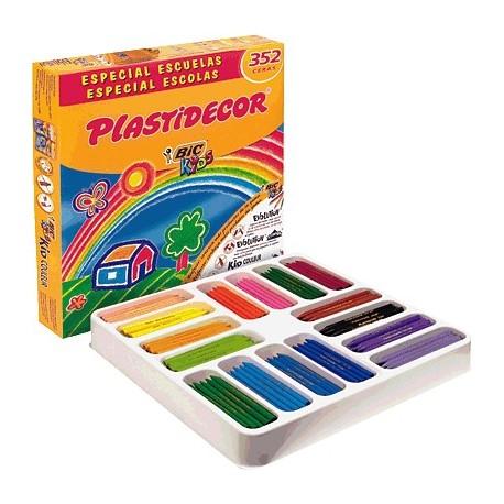 Bic Kids caja 352 lápices Plastidecor