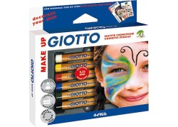 Giotto estuche 6 lápices caométicos