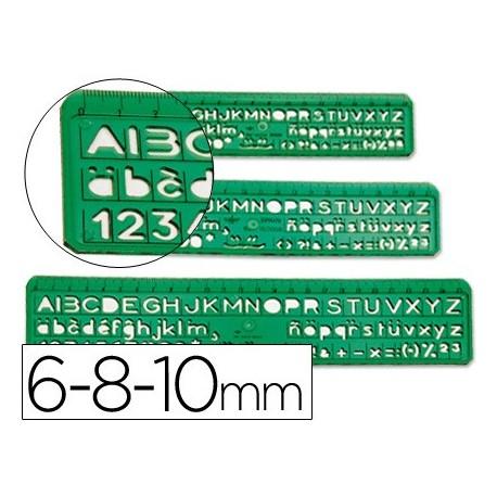 DFH juego de 3 plantillas de letras y números