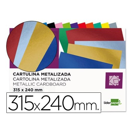 Liderpapel block 10 hojas de cartulina metalizada