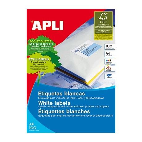 Apli caja de 100 hojas etiquetas adhesivas A4