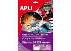 Blister 25 hojas etiquetas mega opacas CD/DVD