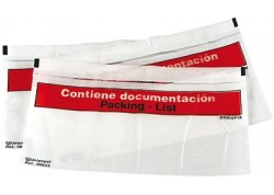 Caja 250 sobres packing list 240 x 130 mm.