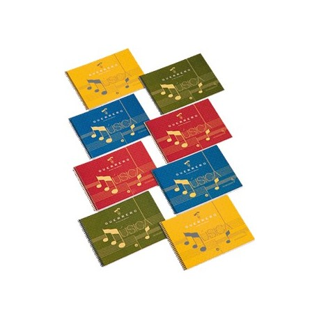 Guerrero cuaderno de música 4º con espiral