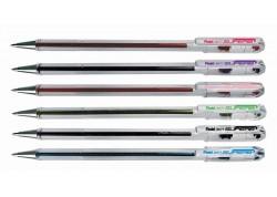 Pentel bolígrafo transparente superb