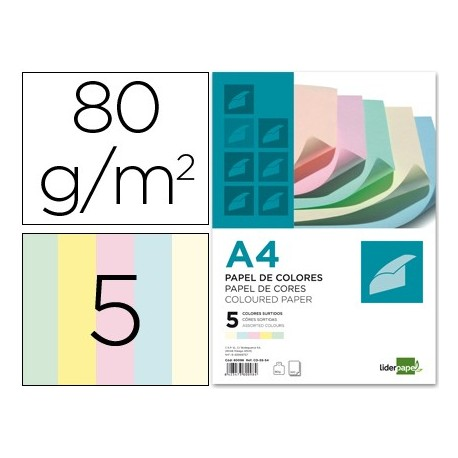 Liderpapel paquete papel 500 hojas 80 gr.