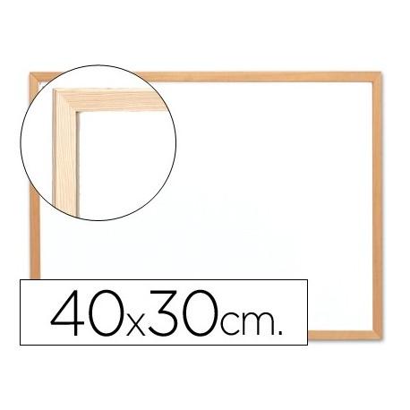 Q-connect pizarra blanca melamina marco de madera