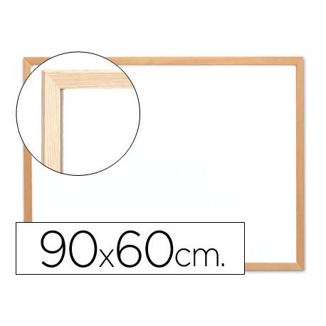 Q-connect pizarra blanca laminada marco de madera