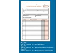 Loan talonario pedidos triplicado