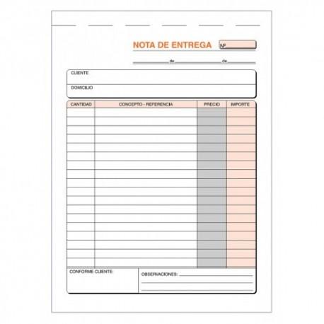 Loan talonario nota de entrega triplicado