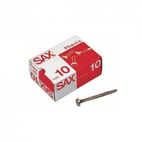 Caja de 100 encuadernadores Sax Phenix