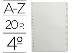 Multifin separadores abecedario 3002 polipropileno