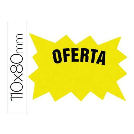 "Bolsa 50 etiquetas marcaprecios ""OFERTA"""