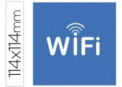 "Apli  10 etiquetas adhesivas ""WIFI"""
