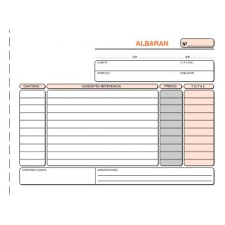 Loan talonario albaranes duplicado