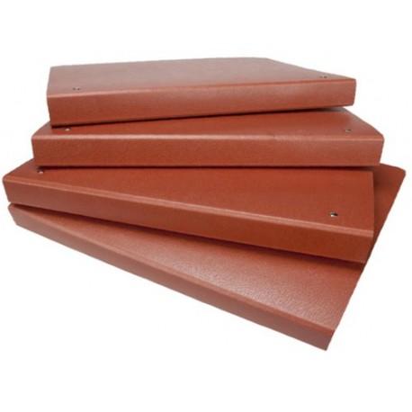 Mariola carpeta 4º anillas redondas cartón cuero