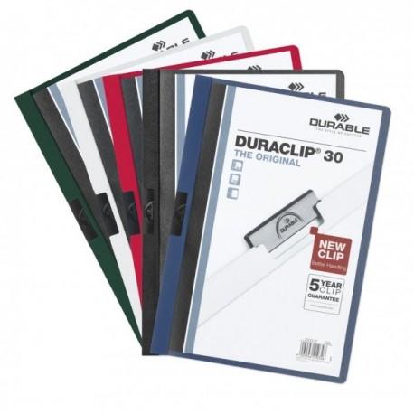 Durable caja 25 dossiers A4 con pinza Duraclip