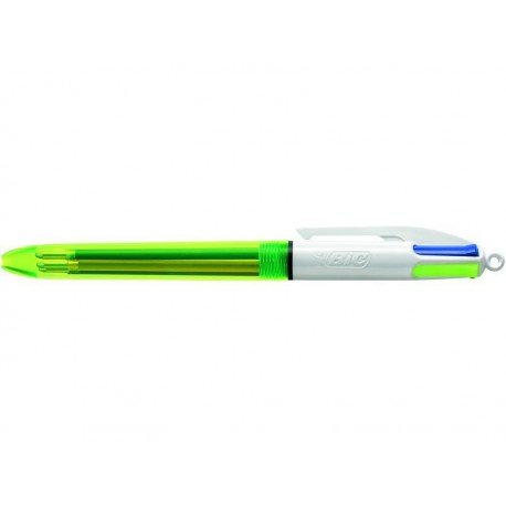 Bic bolígrafo 4 colores flúo neón