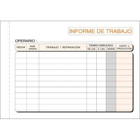 Loan talonario informes de trabajo duplicado