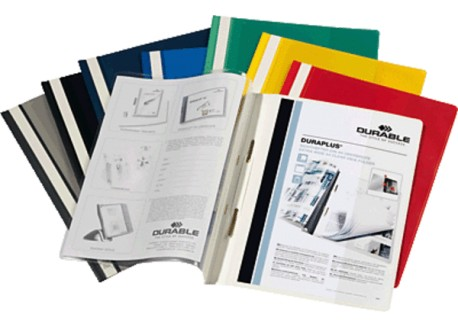 Durable caja 25 dossiers PVC fastener Duraplus