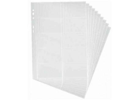 Durable bolsa 10 fundas para tarjetas Visifix A4