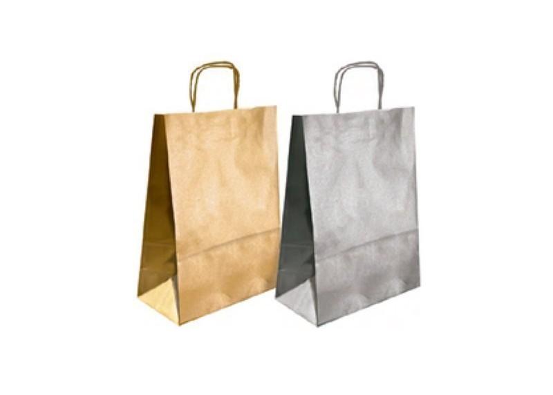 a51431a2b Paq. 25 bolsas regalo papel kraft verjurado - Ofigrao