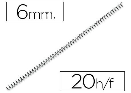 Caja 200 espirales metálicas negros