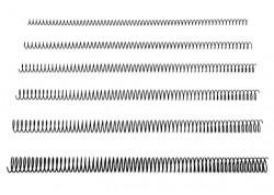 Caja 100 espirales metálicas negros