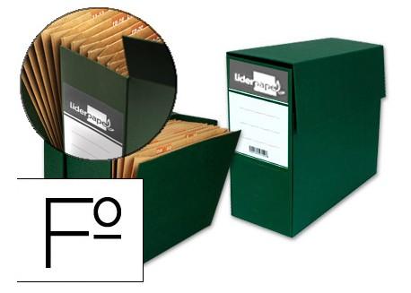 Liderpapel caja transferencia folio con fuelle