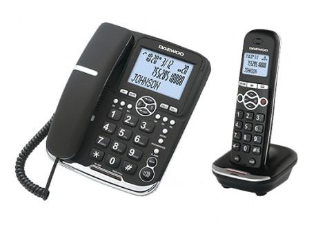 Daewoo teléfono DTD-5500 sobremesa + inalámbrico