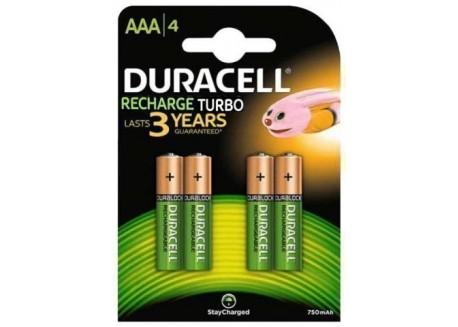Duracell blister 4 pilas recargables HR03 (AAA)