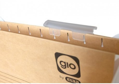 Gio-Elba caja 25 visores para carpetas colgantes 8 cm.