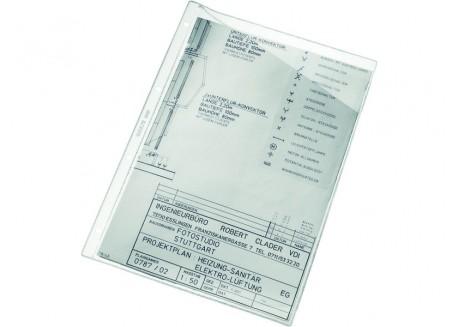Esselte caja de 100 fundas para planos PVC corte diagonal