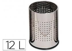 Papelera metálica GY9903 perforada cromada