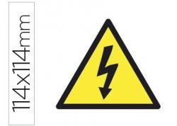 Apli etiqueta adhesiva alta tensión