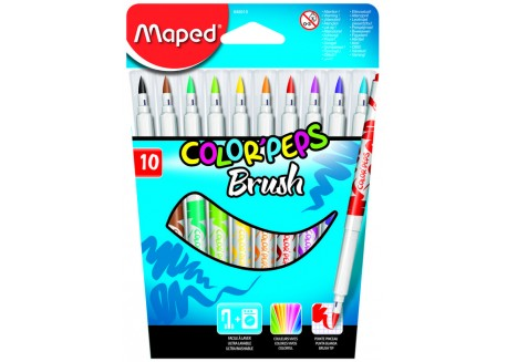 Maped rotuladores color peps punta pincel