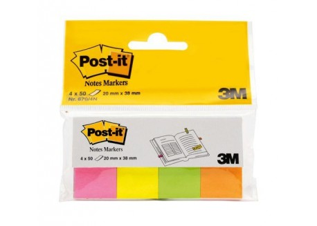 Post-it mini-notas adhesivas neón