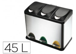 Q-connect papelera contenedor metálico con tapa