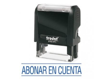 Sello Printy 4911 de entintado automático fórmulas comerciales