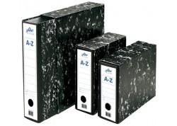 Olef caja para archivador jaspeado negro