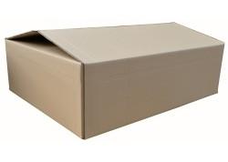 Caja embalaje anónima marrón plana