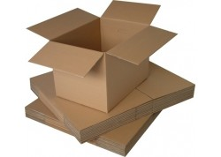 Caja de embalar anónima marrón 3 hendidos