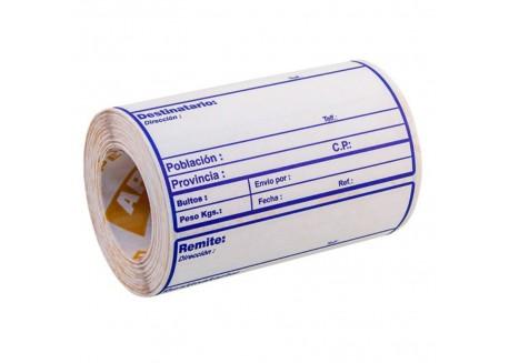 Rollo 200 etiquetas pre-impresas envío