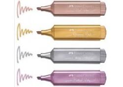 Faber Castell marcador textliner 46 metallic